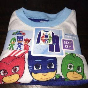 Brand New Baby Boy 12 Month PJ Masks Pajama Set